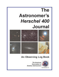 The Astronomer's Herschel 400 Journal - An Observing Log Book